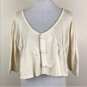 Lia Molly Knit Cropped Cardigan Sweater